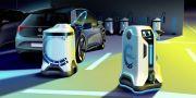 Begini Cara Kerja Robot Volkswagen Mengisi Daya Mobil Listrik