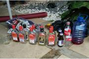 Polres Dharmasraya Gelar Razia, 168 Botol Miras Berhasil Disita
