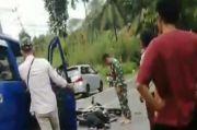 Hendak Nyalip, Mobil Dinas Pejabat Tabrak Motor di Tikungan 1 Orang Luka Parah