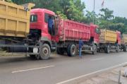 Bandel, Satlantas Polresta Barelang Tertibkan Beberapa Truk Bawa Pasir