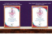 Propan Raya Raih 2 Penghargaan di Ajang Indonesia Digital Marketing Champions 2020