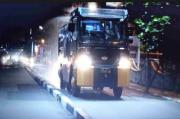 Polresta Manado Lakukan Penyemprotan Disinfektan pada Malam Hari di Kota Manado