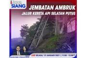 iNews Siang Live di iNews dan RCTI+ Selasa Pukul 11.00: Jembatan Kereta Api Ambruk