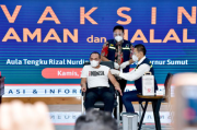 Pertama Divaksin, Gubernur Sumut: Rasanya Semakin Sehat Saya