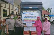 Polres Gowa Salurkan Bantuan Korban Gempa Sulbar