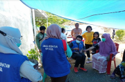 KNPI Sulsel Lakukan Trauma Healing terhadap Anak Korban Gempa
