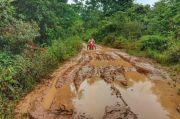 Penuh Lumpur, Puluhan Kilometer di Musi Banyuasin Ini Rusak Parah
