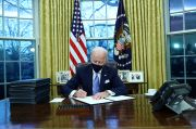 Hari Pertama Menjabat, Biden Teken Dekrit Kembalikan AS ke Kesepakatan Iklim Paris