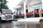 10 Mobil Truk Berisi Bantuan dari Gowa Berangkat ke Sulbar