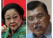 Peluang Megawati dan JK Diusung Parpol Dinilai Sangat Kecil