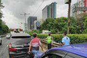 Kecelakaan Beruntun Terjadi di Tol dalam Kota, Lalin Arah Semanggi Padat