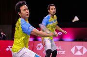 Hasil BWF World Tour Finals 2020: Ganda Putra ke Semifinal, Kado Ahsan untuk Anak Ketiga