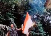 Video Pria Bakar Bendera Merah-Putih Viral, Polri Turun Tangan