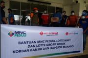 MNC Peduli, Lotte Mart dan Lotte Grosir Salurkan Bantuan Bagi Korban Banjir dan Longsor Manado