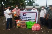 Perindo Peduli Kembali Bagikan Sembako, Makanan Siap Saji dan Masker kepada Warga Terdampak Banjir Manado