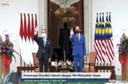 Sempat Keliling Area Monas, PM Malaysia Disambut Presiden Jokowi di Istana Merdeka