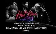 Turnamen Biliar Hot Nine Pertemukan Pebiliar Cantik Silviana Lu vs Rini Nasution