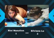 Turnamen Biliar Hot Nine: Silviana Lu dari Papua Taklukkan Atlet Sumatra Utara Rini Nasution