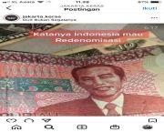 BI Minta Netizen Hati-Hati Bikin Candaan Uang Redenominasi Gambar Jokowi