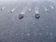 Dua Armada Kapal Induk AS Latihan di LCS, China: AS Rusak Stabilitas