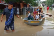 2 Hari Indramayu Dilanda Banjir, Ketinggian Air Mencapai 1 Meter