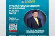 Unnes Semarang Anugerahkan Gelar Doctor Honoris Causa kepada Nurdin Halid