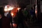 Medan Gempar, Mobil Polisi Mendadak Terbakar di Underpass Titikuning