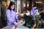 78 Prajurit TNI AD Ramai-Ramai Ikut Donor Darah Plasma
