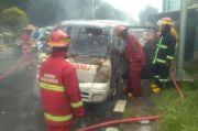 Diduga Korsleting Listrik, Mobil Ambulans Terbakar di Bogor