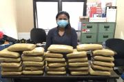 Wanita Seksi Asal Lampung Ditangkap di Pangkalpinang Saat Membawa 28 Kg Ganja