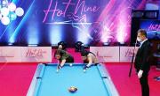 Turnamen Biliar Hot Nine: Echa Sudarto Tundukkan Wakil DKI Jakarta Fanny Lestari