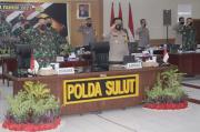 Rapim 2021 Secara Virtual, TNI-Polri di Sulut Siap Dukung Program Nasional Pemerintah