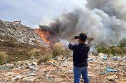 TPA Punggur Batam Terbakar Hebat, Kobaran Api Sulit Dikendalikan