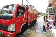 Sempat Surut, Banjir Kembali Melanda Permukiman Warga Kapuk Muara