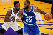 Hasil Pertandingan NBA 2020/2021, Jumat (19/2/2021) WIB: Harden Dominan, Lebron James Catat Rekor