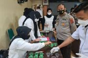 Ratusan Anggota Satreskoba Polrestabes Makassar Jalani Tes Urine