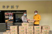 Dukung Kampung Tangguh, Ketua Himpunan Pengusaha Kosgoro DKI Serahkan Bantuan ke Polsek Setiabudi