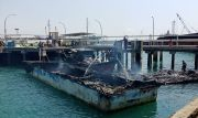 Empat Kapal Hasil Tangkapan Bea Cukai Batam Terbakar