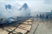 Lalai Tak Ditunggui, Pabrik Kerupuk di Palembang Ludes Terbakar