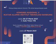 Kongres IA-ITB 2021 Digelar Daring, Pemilihan Ketum Gunakan Sistem I-voting