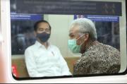 Gubernur Jateng Ganjar Pranowo Diledek Presiden Jokowi saat Jajal KRL Jogja-Solo