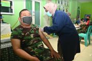 Ribuan Personel TNI AD Kodam V/Brawijaya Disuntik Vaksin COVID-19