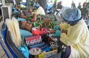 Jelang HUT Ke-20 Pasmar 2, Prajurit Brigif 2 Marinir Gelar Donor Darah