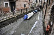 Usai Banjir Besar 3 Bulan Lalu, Air Kanal di Venesia Surut