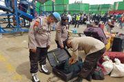 Antisipasi Barang Berbahaya, Polsek Kawasan Pelabuhan Cek Barang Penumpang