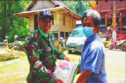 Pasca Longsor di Toraja Utara, Kodim 1414 Salurkan Bantuan
