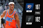 Hasil Pertandingan NBA, Jumat (5/3/2021): Bucks Gulung Grizzlies, Thunder Permalukan Spurs