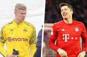 Adu Tajam Dua Mesin Gol Bundesliga: Lewandowski vs Haaland