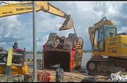 2 Minggu Tenggelam di Pelabuhan Perigi Piai, Belasan Kendaraan di KMP Bili Dievakuasi