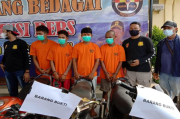 11 Kali Beraksi, 3 Pelaku Spesialis Curanmor Jamaah Masjid Dibekuk Polisi